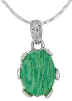 925 Sterling Silver Natural Amazonite Pendant