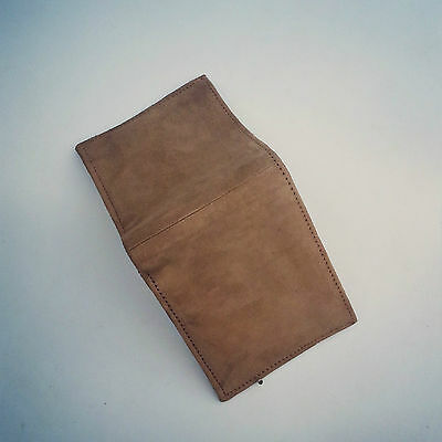 genuine goat Lather Wallet inside also leather Handmade suede leatherette