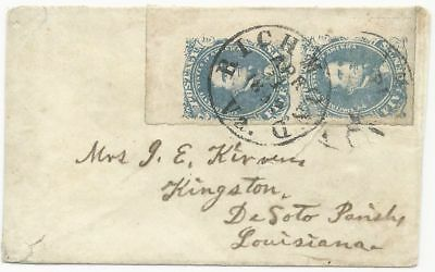 CSA Scott #4 Pair Stone 2 on Cover Richmond, VA April 1, 1862 Powell Type 3a