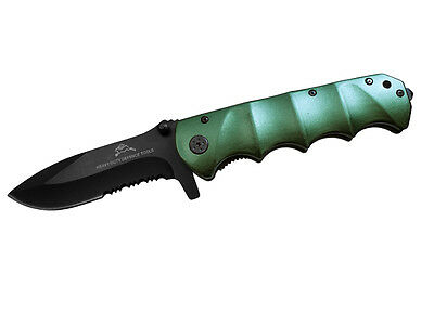 "9"" Green Rabbit Spring Assist Survival KNIFE Handy Hunting Combat Tactical Knife"