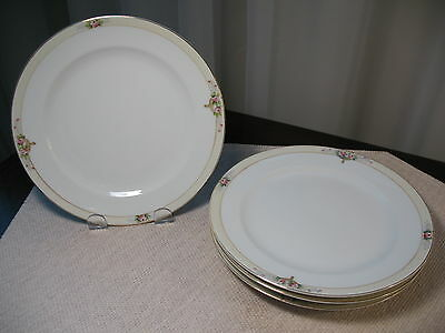 MEITO CHINA SET OF 4 SMALL DINNERWARE PLATES HAND PAINTED MADE IN JAPAN 7 5/8""