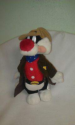 "Warner Brothers SYLVESTER - Six Flags Sheriff- 14"" plush. RARE"