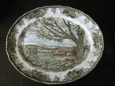 """Friendly Village Made England  by Johnson Bros. 13.5"""" Oval Serving Platter"""