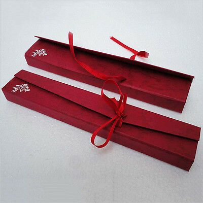 12 pieces burgundy Jewelry Bracelet/Necklace/Chain Package Gift Box AH029c06