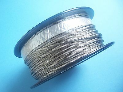 """Type 316 Stainless Steel Wire Rope Cable, 1/8"""",7x19, 500 ft Reel"""