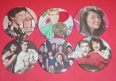 """Saved By The Bell Badges New Set Of 6 LARGE 2 1/4"""" Buttons Pins 90's"""