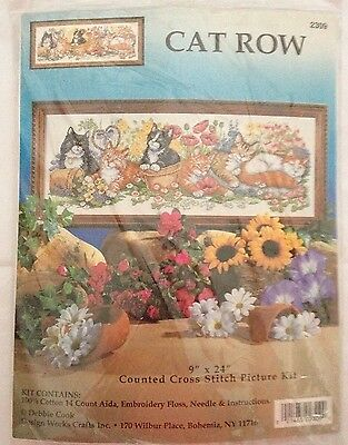 Design Works 'Cat Row' Counted Cross Stitch
