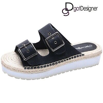 NEW Womens Flip Flops Low Wedge Thong Sandals Slippers Shoes Summer Beach HOT