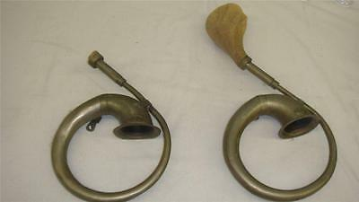 2 Victor Model T car horns white squeeze bulb - Rare