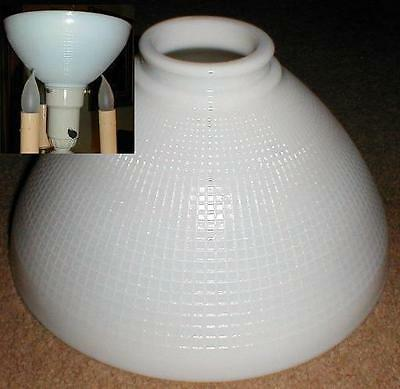"""10"""" opal GLASS DIFFUSER for old antique floor lamp reflector shade"""