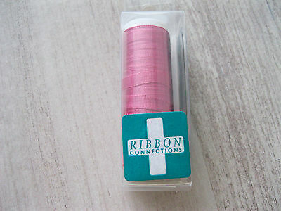 Ribbon Connections 4 mm  Japanese SILK- Color 128 (Magenta)