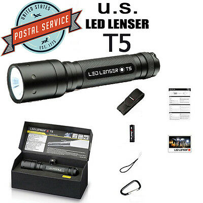 """Brand NEW CREE Led Lenser T5 105LM FOCUS torch flashlight  hand Torch """"Gift Box"""