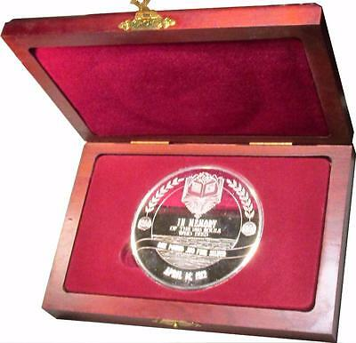 14.58 Troy Oz Silver Titanic Commemorative With Wooden Display Box
