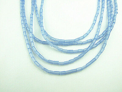 20pcs 2x4mm Cuboid-like glass crystal charms loose beads color blue