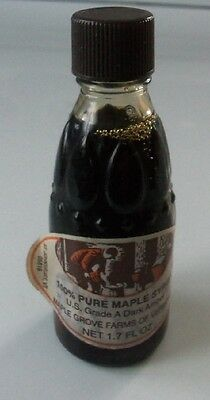 Collectible Bottle with Maple Grove Farms of Vermont Syrup                   756