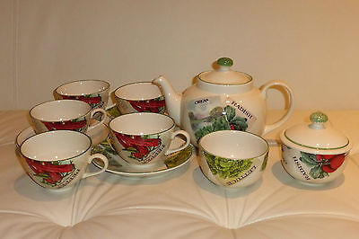 Poole Pottery Seed Packets Tea Set England - 11 Pieces