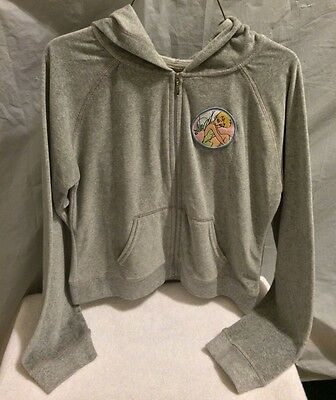 Disney Gray Tinkerbell Hoodie. Girls Large. Zip Up. New With Tag.