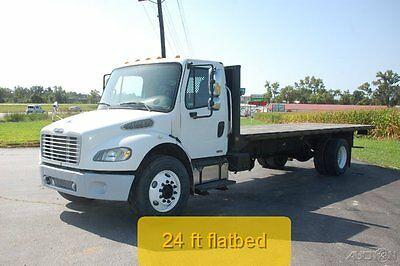 2006 Freightliner M2 Business Class manual Fresh Rebuild 24ft flatbed diesel