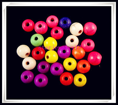 50Pcs Mixed color Turquoise charm Round spacer beads Jewelry Making Design 6mm