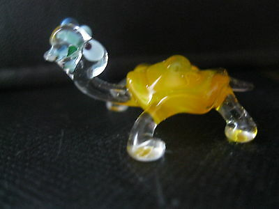 """Miniature Hand Blown Glass Figurine Russian Murano Art Turtle Animal Gift Toy"""