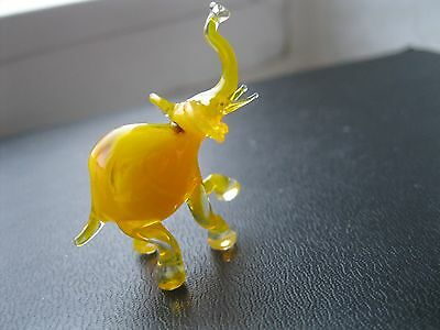 Miniature Hand Blown Glass Figurine Russian Murano Elephant Home Decor Gift Toy