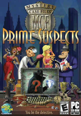 MYSTERY CASE FILES PRIME SUSPECTS for PC SEALED NEW