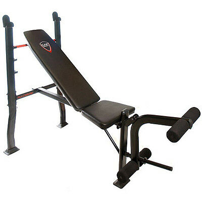 Cap Barbell Strength Standard Weight Olympic Bench +Attachment Exercice Gym Core