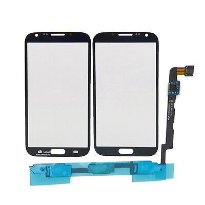Touch Screen Lens + Sensor Flex Cable for SamSung Galaxy Note 2 II N7100 Black