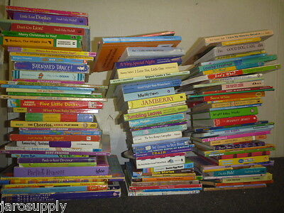 Lot of 30 MINI SMALL Board Hard Picture Day Care Kid Children Books MIX UNSORTED