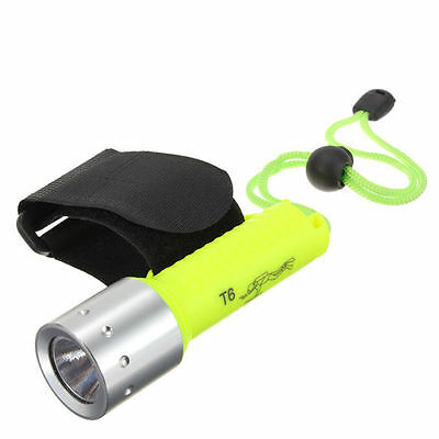 1600 Lumen Diving Flashlight CREE XM-L T6 LED 18650 Waterproof Torch Lamp Light