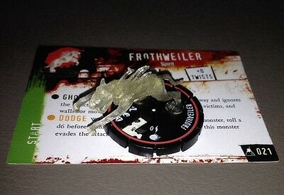 AA Horrorclix FROTHWEILER 021 Veteran The Lab  Heroclix WITH CARD