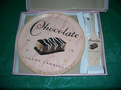 NEW Ambiance Collections Cake Plate & Server Gourment Delights in BOX