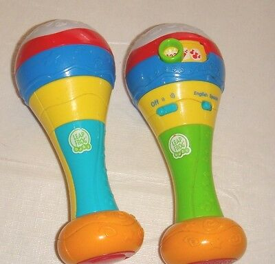 LeapFrog Infant Toddler Learn and Groove Counting Maracas English Spanish