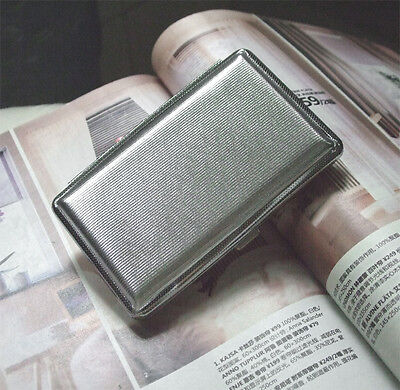New wallet vintage Cigarette Case antique metal Holder silver Mens womens B022