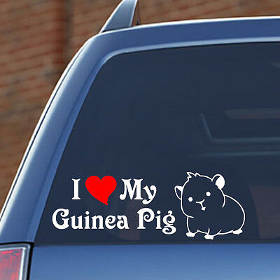 I LOVE MY GUINEA PIG - Vinyl Decal - Fun, Toy, Cage, Food, Snack, Costume