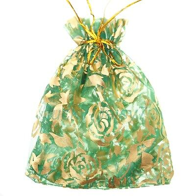 10pcs Green Gauze Organza Bag Jewelry Packing Pouch Gift Storage Bags 10x12cm