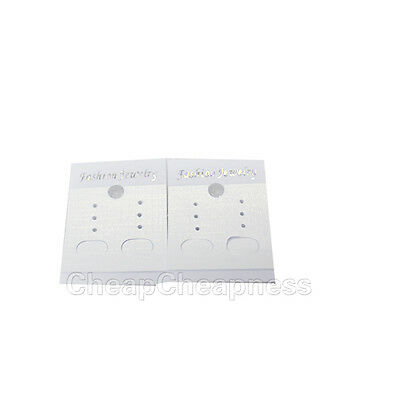 Convenient 100 PCS White Paper Earrings Jewelry Display Hanging Cards Tags BBUS