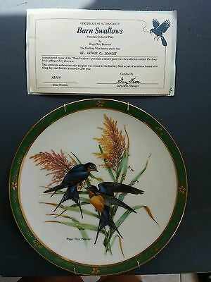 Barn Swallows LE plate/Songbirds of Roger Tory Peterson/Beautiful bird plate