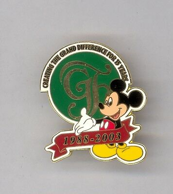 15th Disney World Grand Floridian Hotel Resort & Spa Mickey Mouse Cast LE Pin