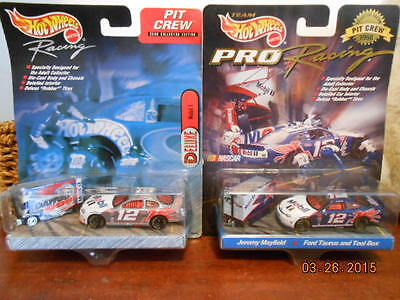 HOT WHEELS RACING PIT CREW SETS JEREMY MAYFIELD #12 MOBIL 1 1998 2000