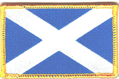 SCOTLAND FLAG/Iron On Embroidered Applique Patch /Flag of Scotland
