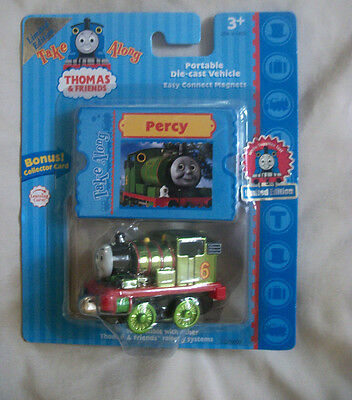NEW METALLIC PERCY LIMITED EDITION TAKE ALONG THOMAS & FRIENDS TRAIN DIE-CAST