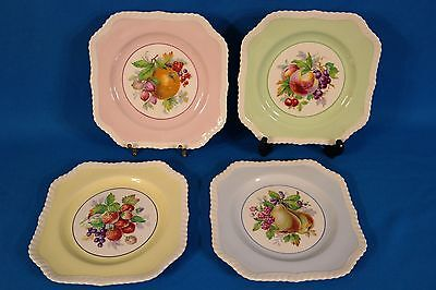 Johnson Bros Old English Fruit Square Salad Plate set of 4 England