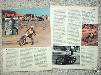 vintage OLE OLSEN MOTORCYCLE RACING Article / Photos / Pictures