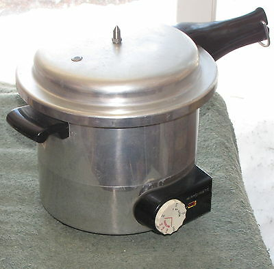 Vintage 1950s Mirro Matic 4 Qt Electric Pressure Cooker Canner Rack Manual