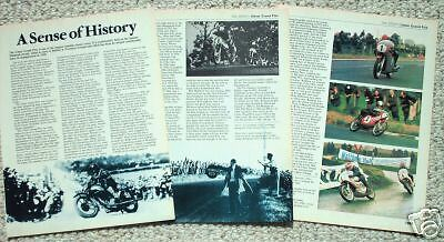 Old ULSTER GP MOTORCYCLE Grand Prx Racing Article/Photo