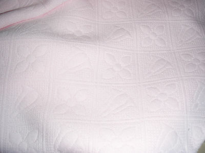 """VERY SOFT BABY PINK FLORAL DESIGN IMPRINTED ON COTTON BLEND FABRIC 1 YARD 30"""""""