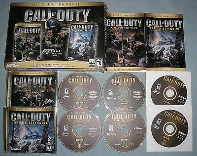 Call of Duty Deluxe Edition Box Set - PC Computer CD 2-Game Collection COMPLETE!