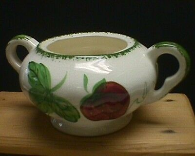 Blue Ridge Pottery Sugar Bowl Berryville On Colonial Strawberry No Lid