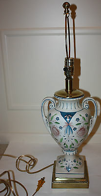Vintage Frederick Cooper Hand-Painted Lamp - 27 Inches Tall
